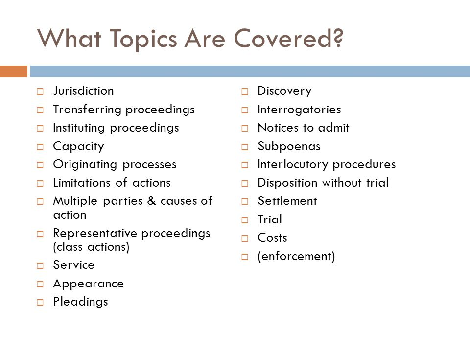 What Topics Are Covered