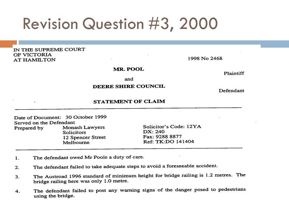Revision Question #3, 2000