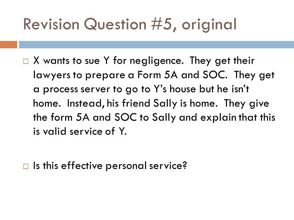 Revision Question #5, original