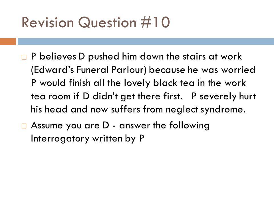 Revision Question #10