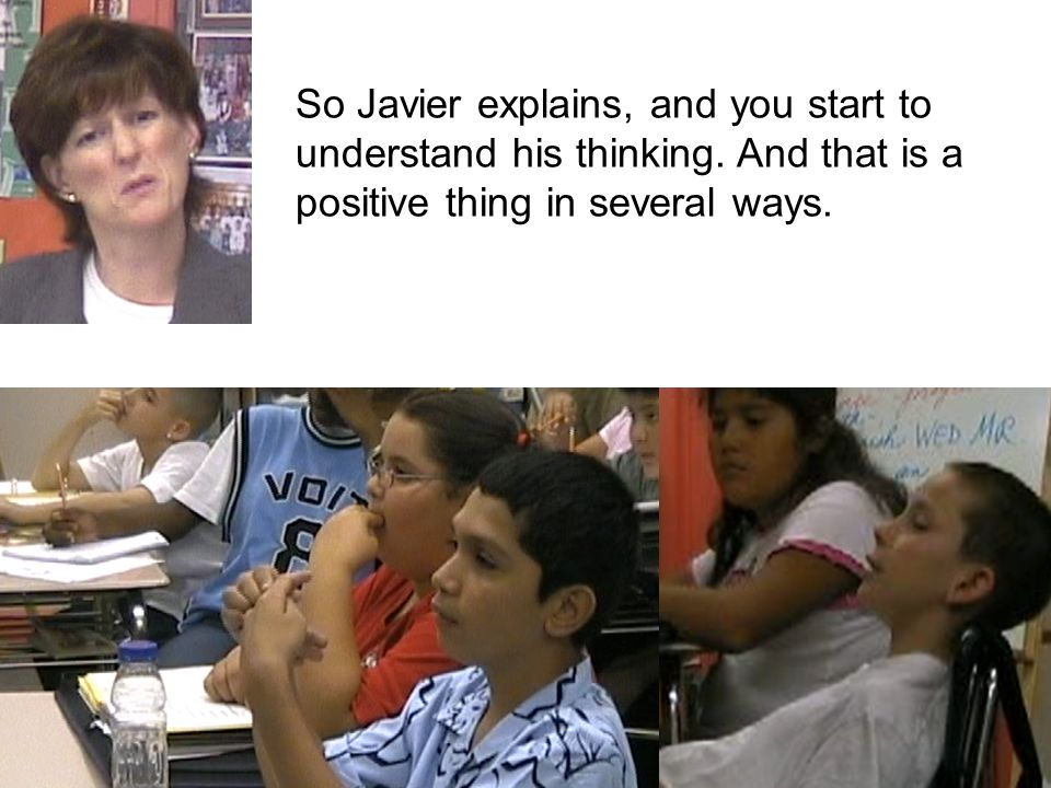 So Javier explains, and you start to understand his thinking