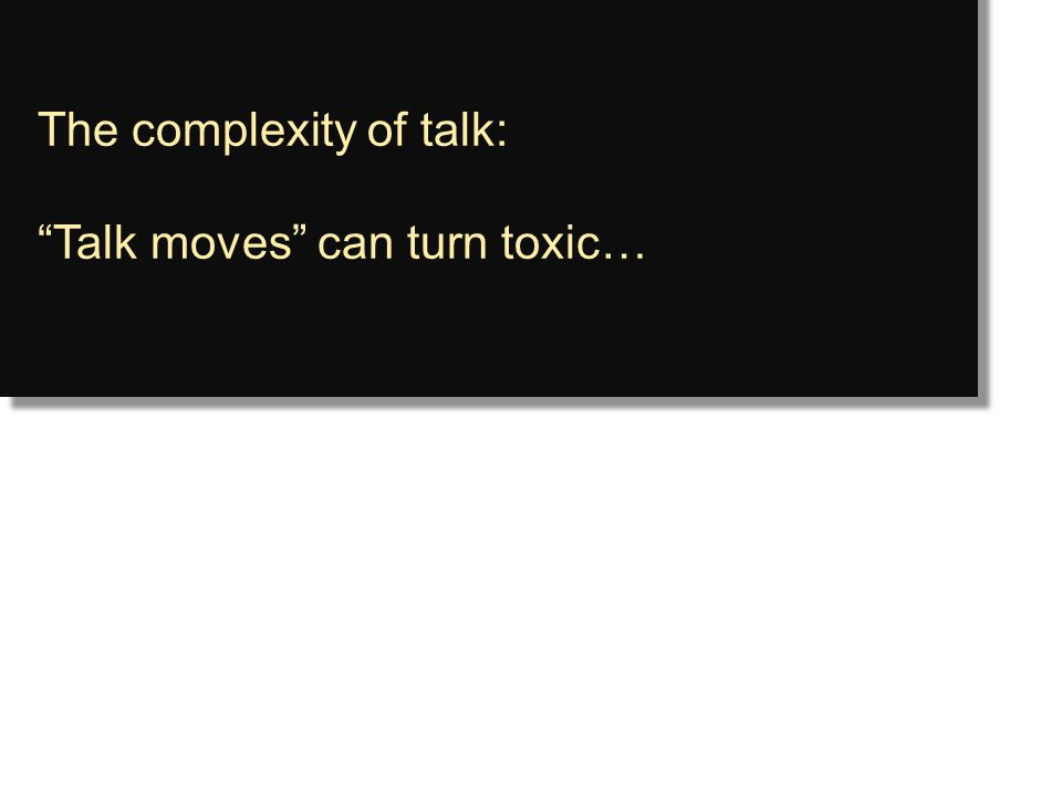 The complexity of talk: