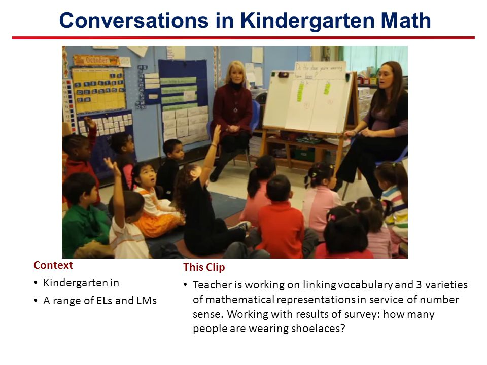 Conversations in Kindergarten Math