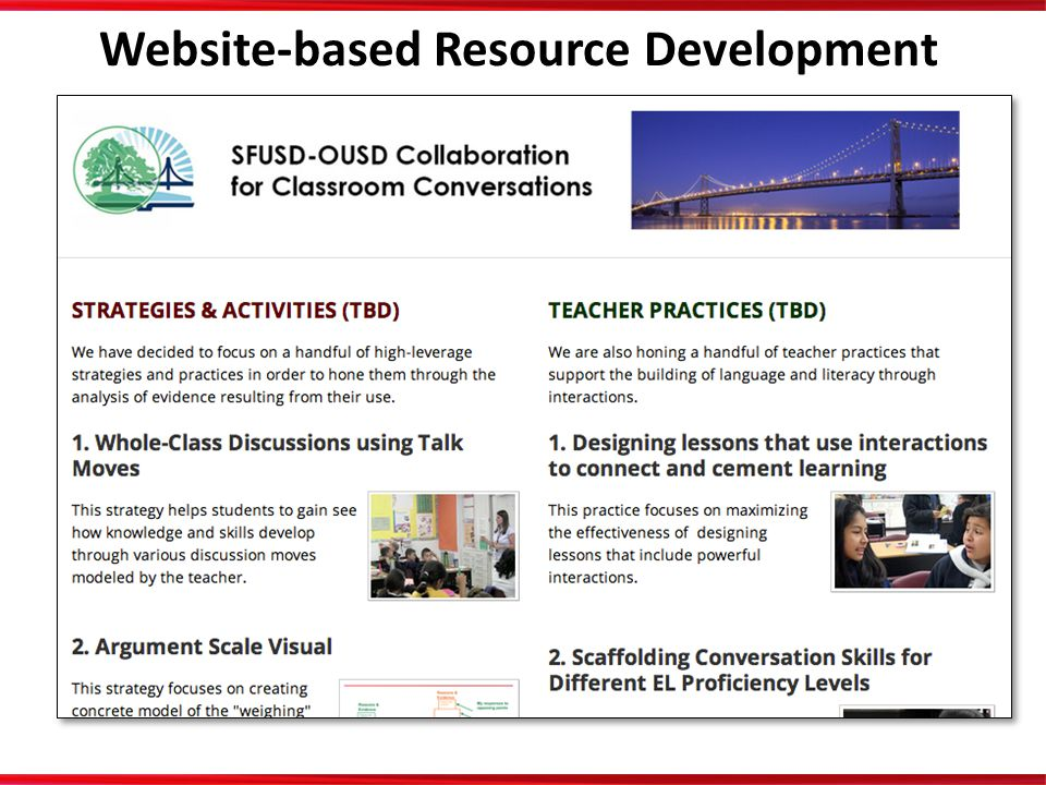 Website-based Resource Development