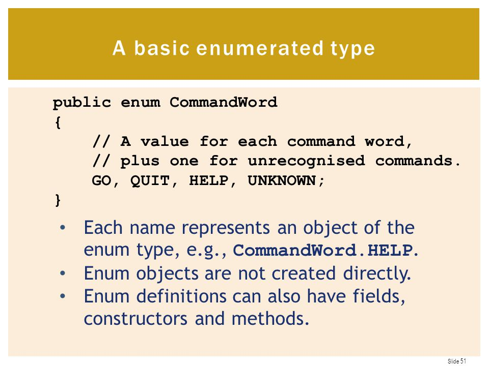 A basic enumerated type