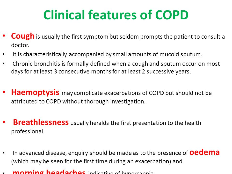 Clinical features of COPD