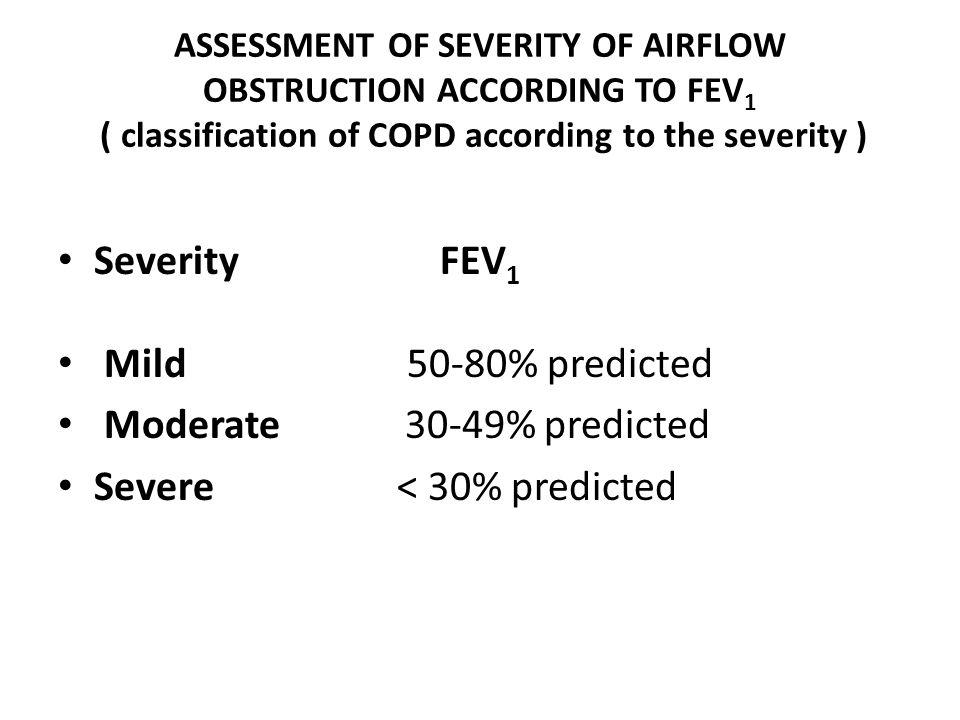 Severe < 30% predicted