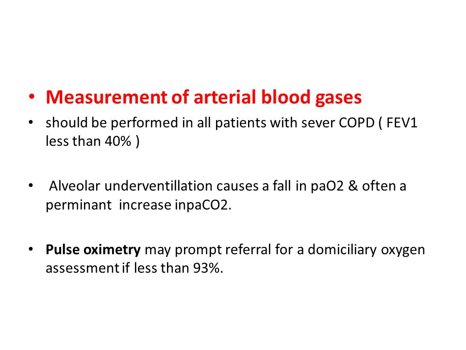 Measurement of arterial blood gases