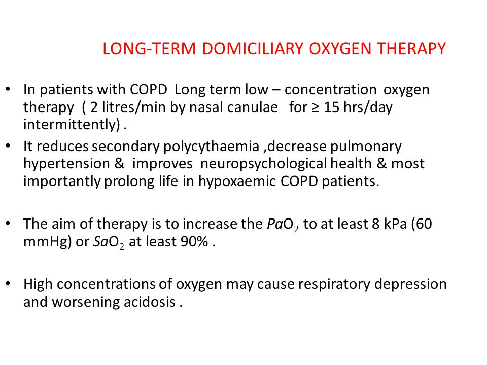 LONG-TERM DOMICILIARY OXYGEN THERAPY