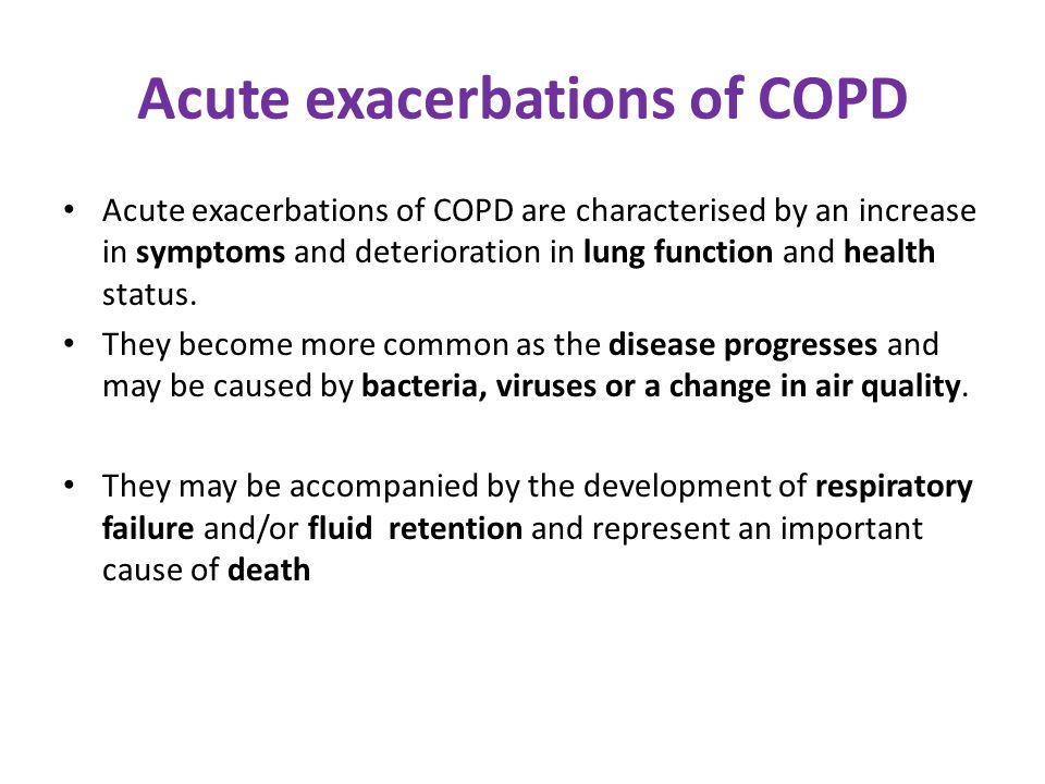 Acute exacerbations of COPD
