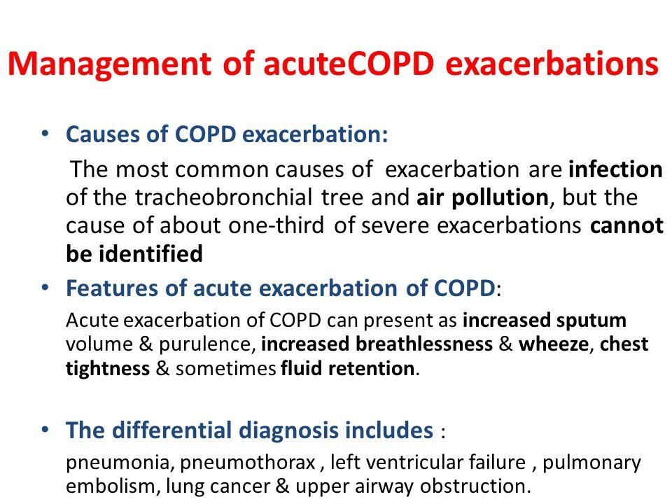 Management of acuteCOPD exacerbations