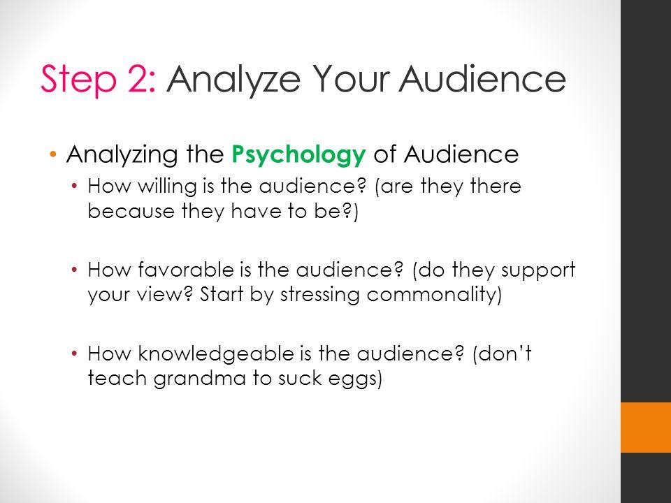 Step 2: Analyze Your Audience