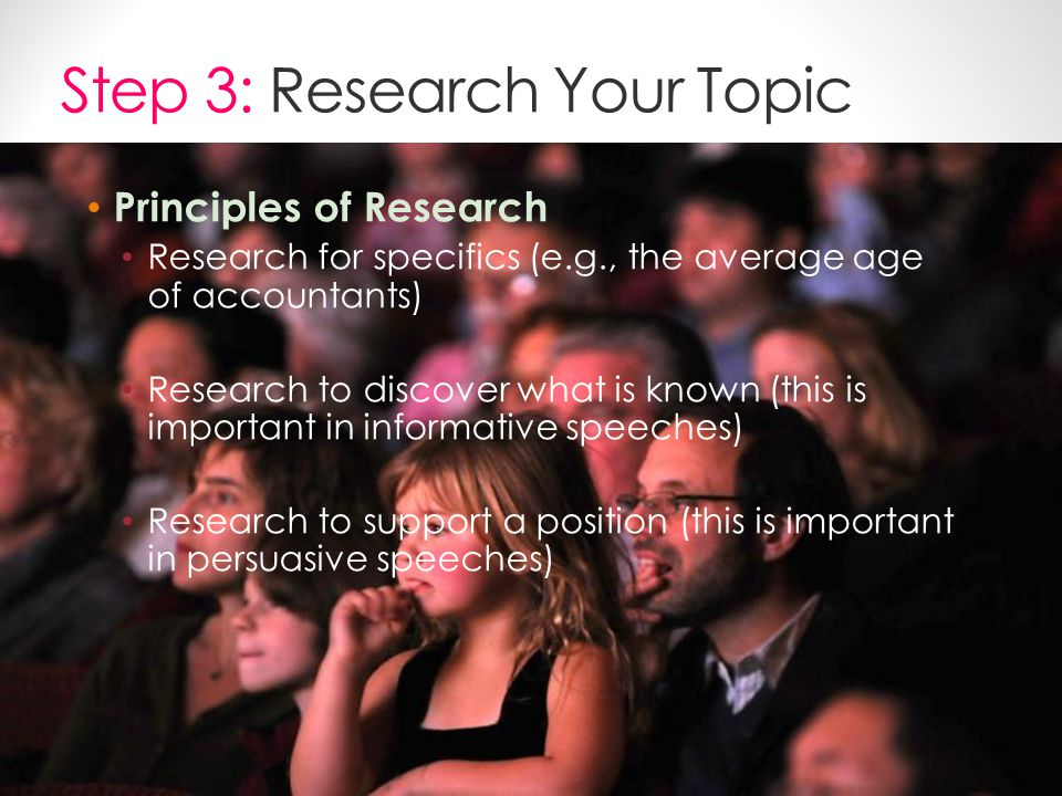 Step 3: Research Your Topic