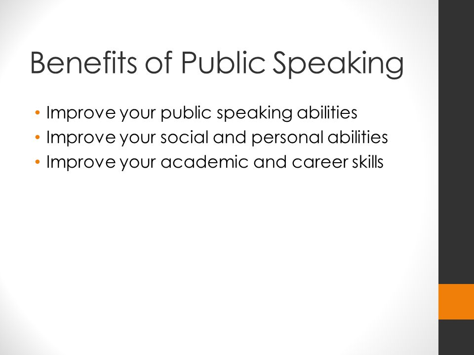 benefits public speaking essay Unlike most editing & proofreading services, we edit for everything: grammar, spelling, punctuation, idea flow, sentence structure, & more get started now.