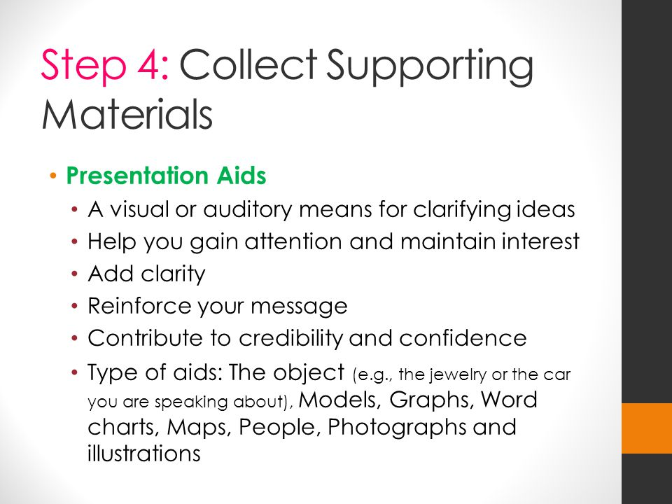 Step 4: Collect Supporting Materials