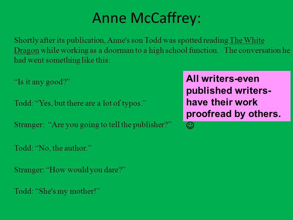 Anne McCaffrey: