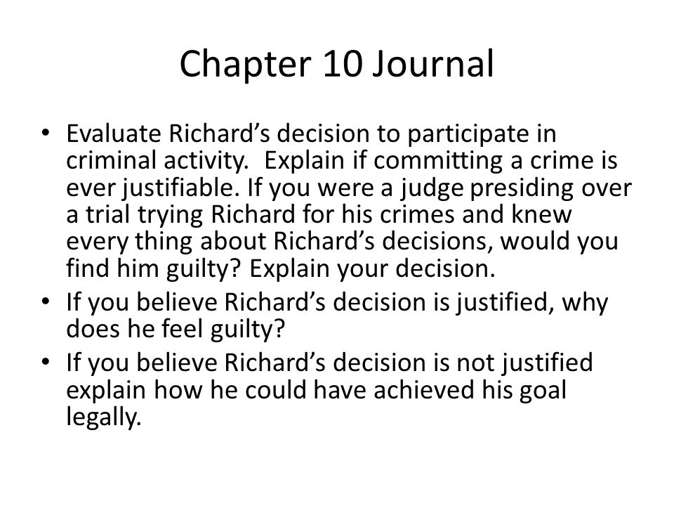 Chapter 10 Journal