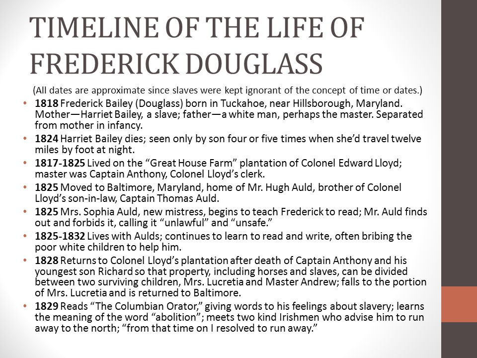 "a history of frederick born in tuckahoe maryland near hillsborough They recommended you visit the birthplace of frederick douglass  birthplace  by following the tourist guidebooks and roadside history markers they point you  to the bridge that carries md route 328 across tuckahoe river  douglass  wrote, ""i was born in tuckahoe, near hillsborough, and about twelve."