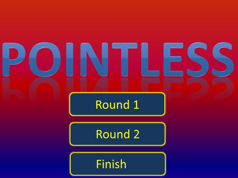 Pointless Round 1 Round 2 Finish