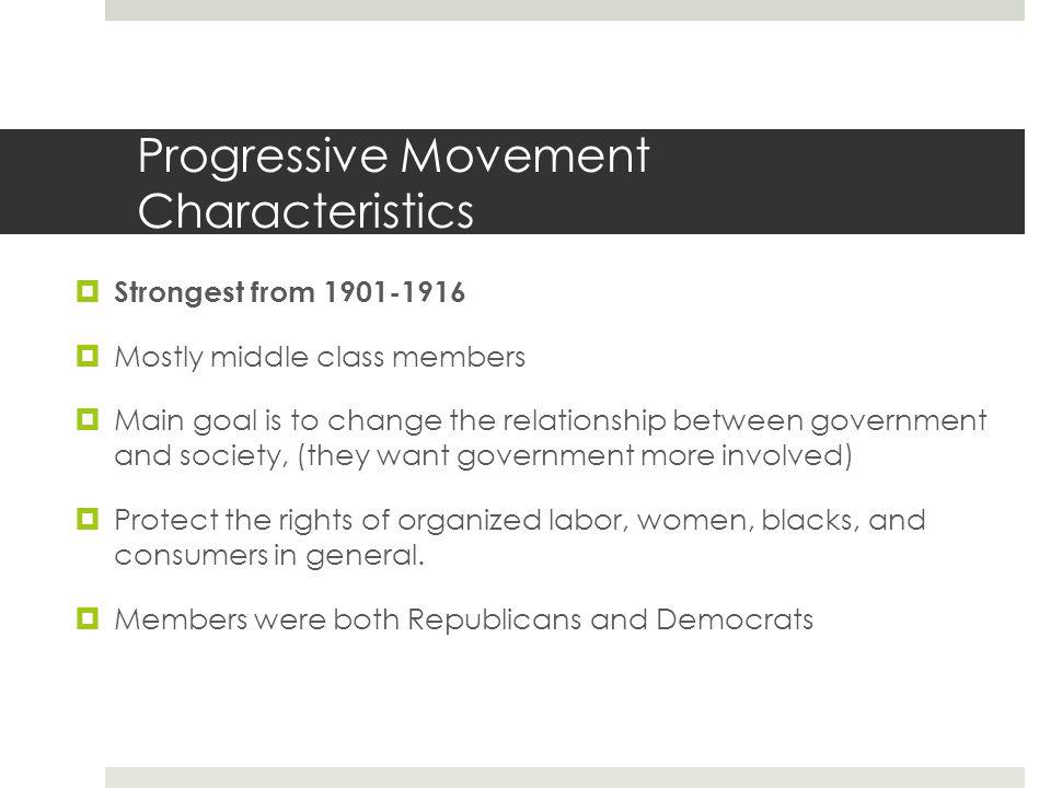 Progressive Movement Characteristics