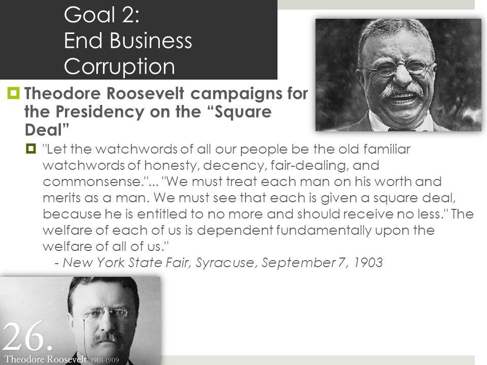 Goal 2: End Business Corruption