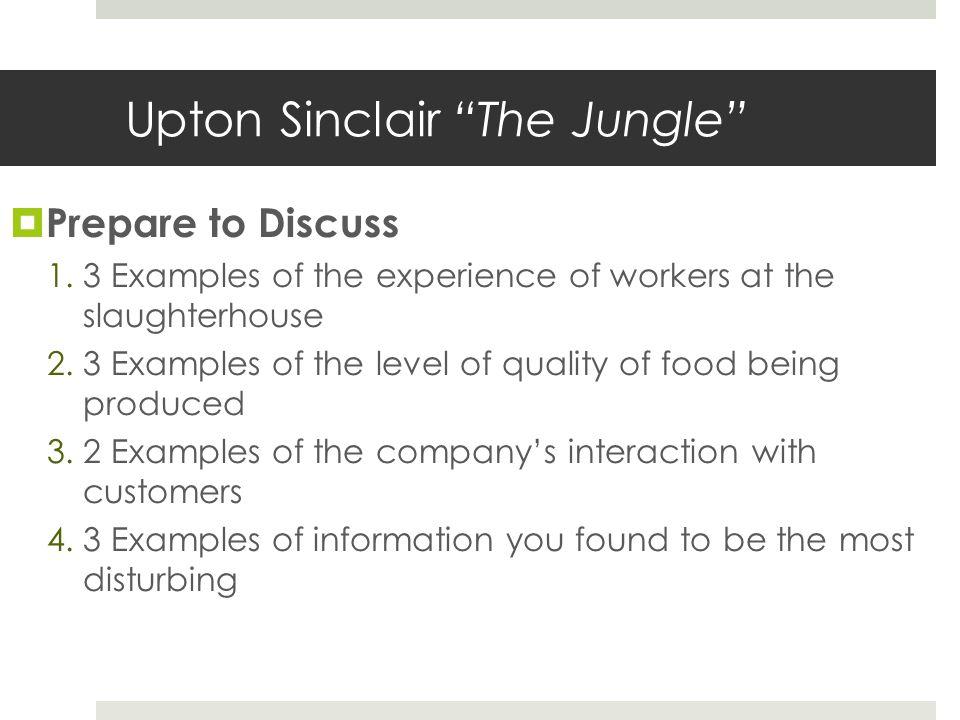 Upton Sinclair The Jungle