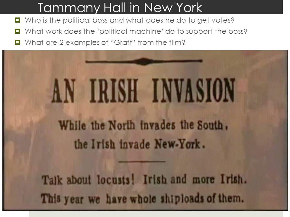 Tammany Hall in New York