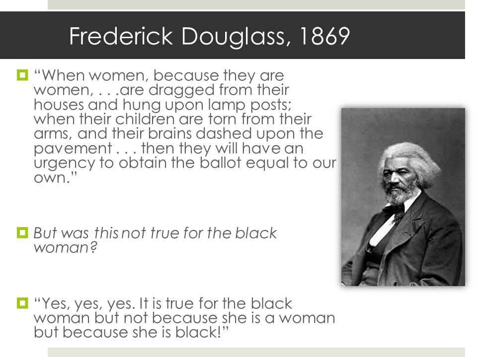 Frederick Douglass, 1869