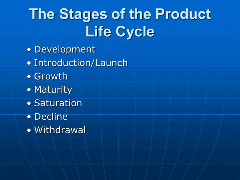 The Stages of the Product Life Cycle
