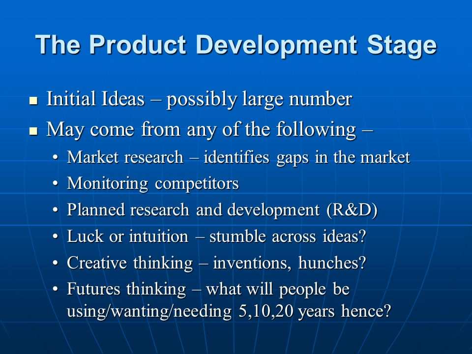 The Product Development Stage