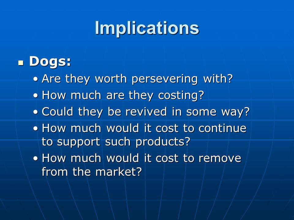 Implications Dogs: Are they worth persevering with
