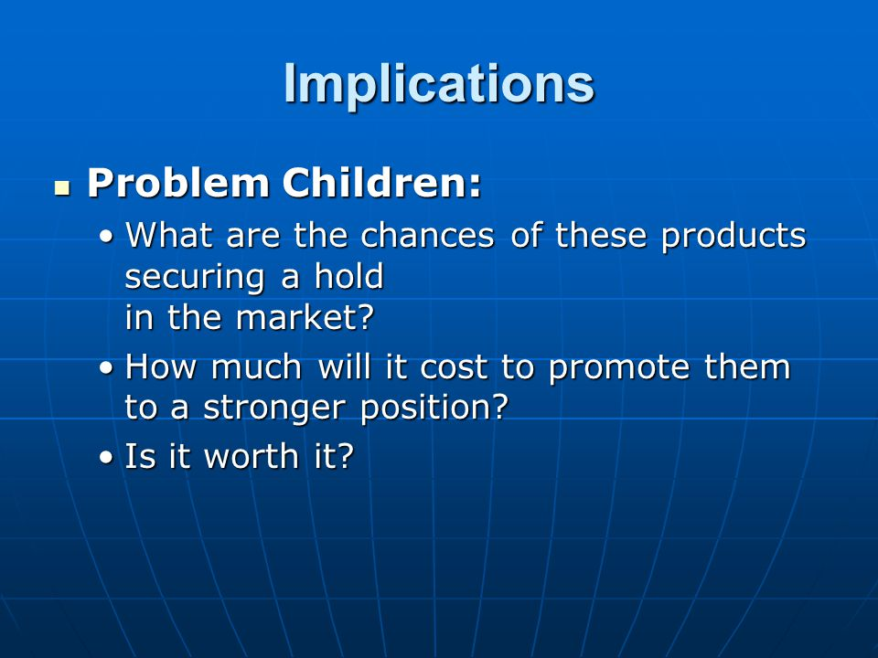 Implications Problem Children: