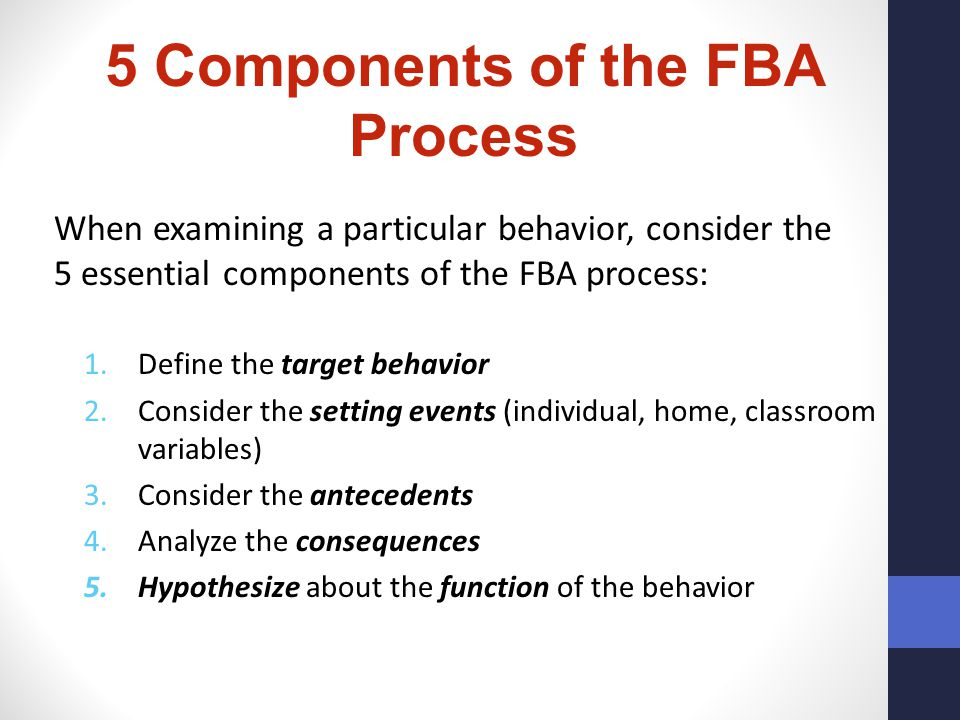 5 Components of the FBA Process