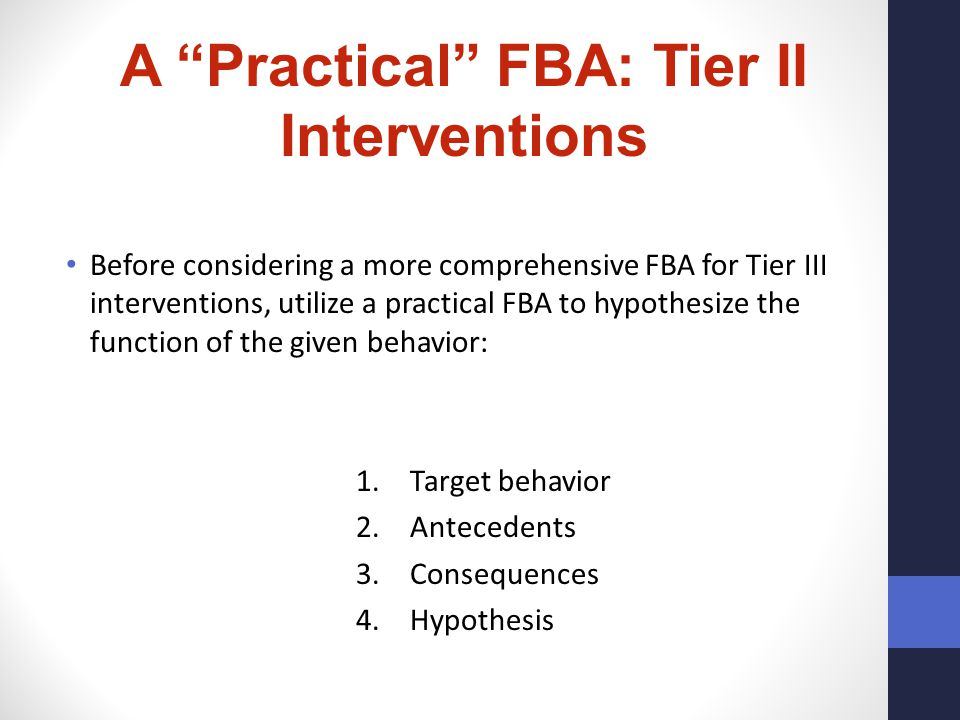 A Practical FBA: Tier II Interventions