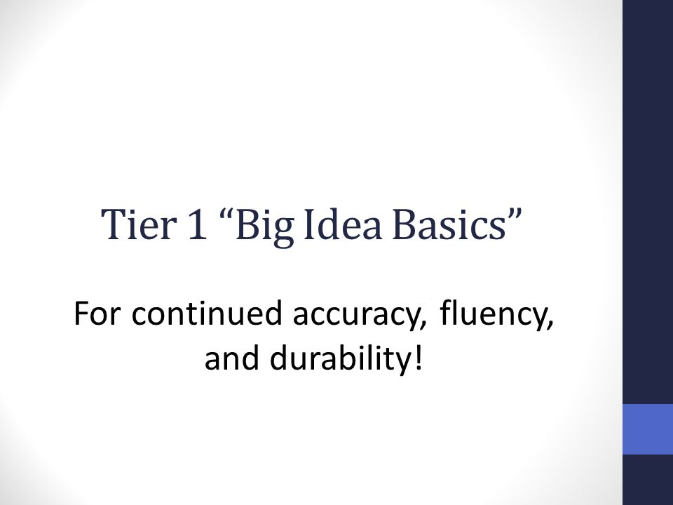 For continued accuracy, fluency, and durability!