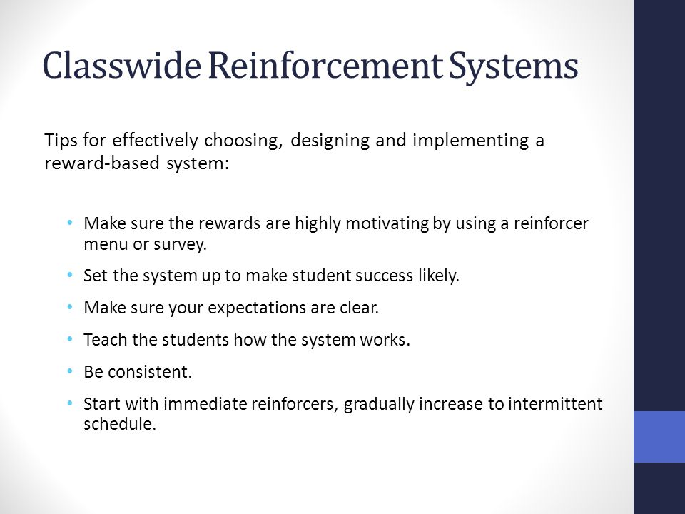 Classwide Reinforcement Systems