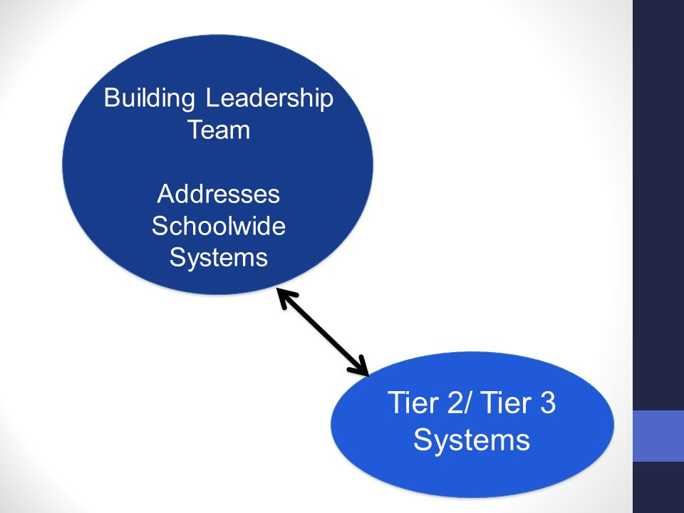 Tier 2/ Tier 3 Systems Building Leadership Team Addresses Schoolwide
