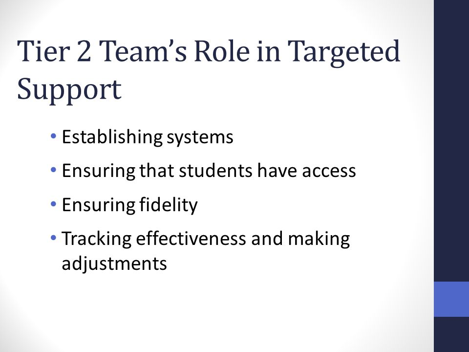 Tier 2 Team's Role in Targeted Support