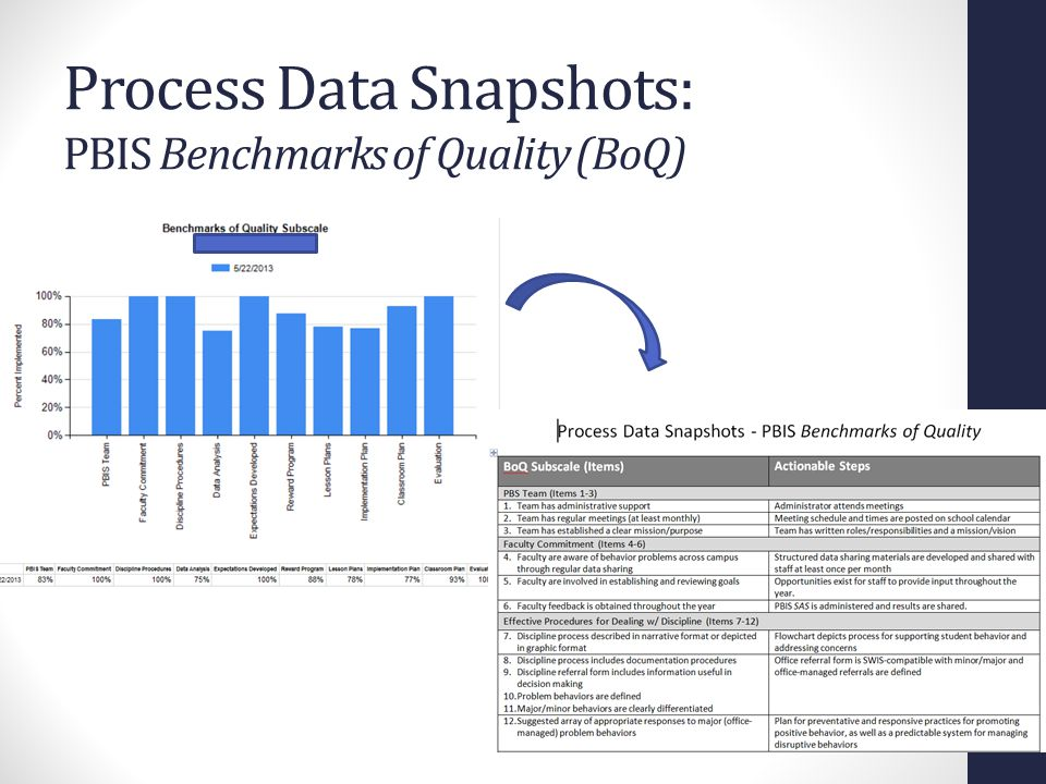 Process Data Snapshots: PBIS Benchmarks of Quality (BoQ)