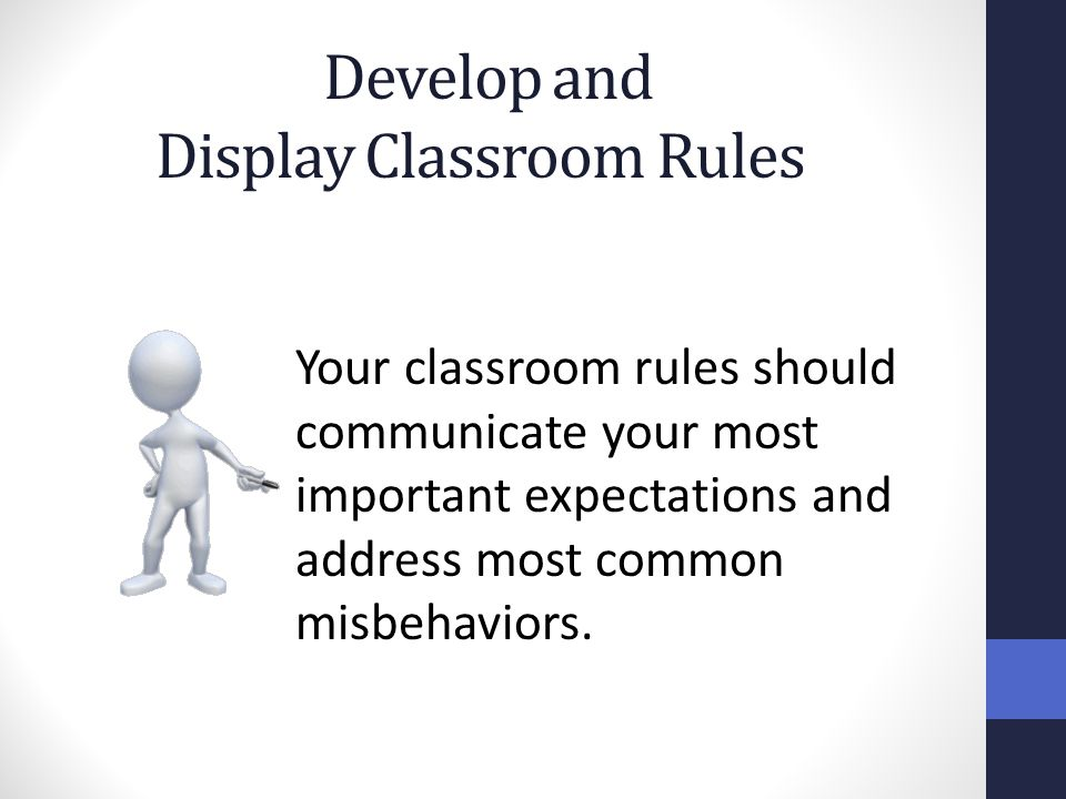 Develop and Display Classroom Rules