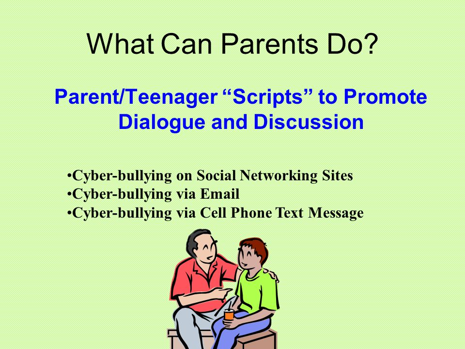Parent/Teenager Scripts to Promote Dialogue and Discussion