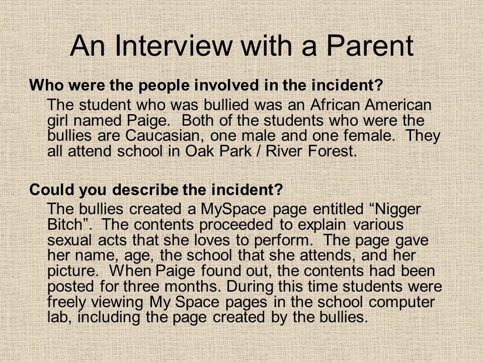 An Interview with a Parent