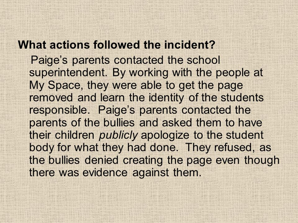 What actions followed the incident