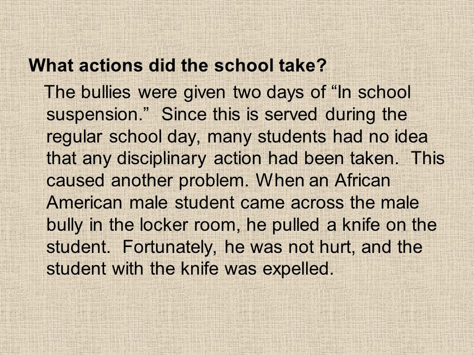 What actions did the school take