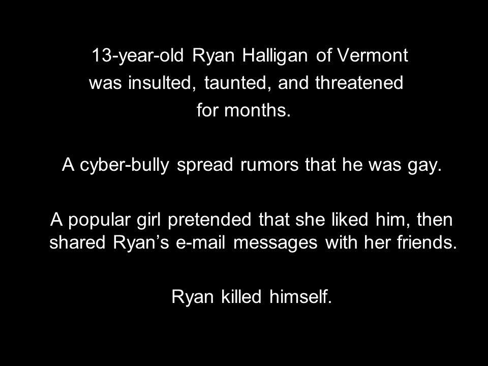 13-year-old Ryan Halligan of Vermont