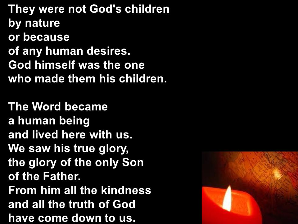 They were not God s children