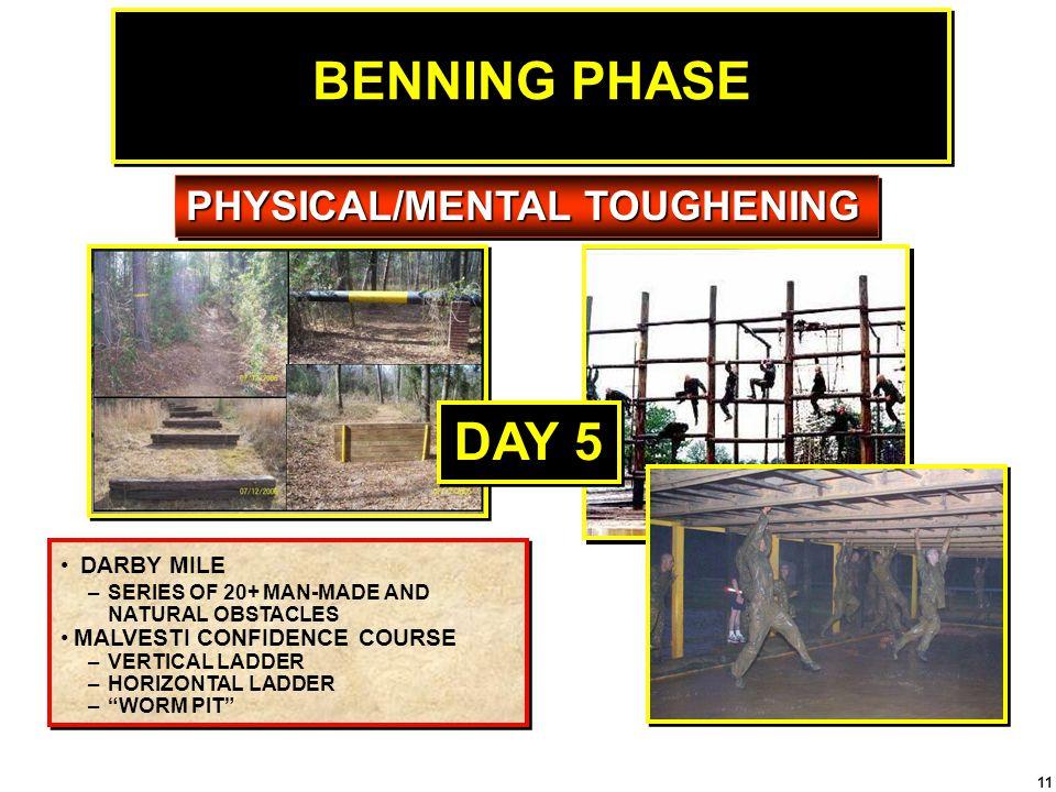 BENNING PHASE DAY 5 PHYSICAL/MENTAL TOUGHENING DARBY MILE