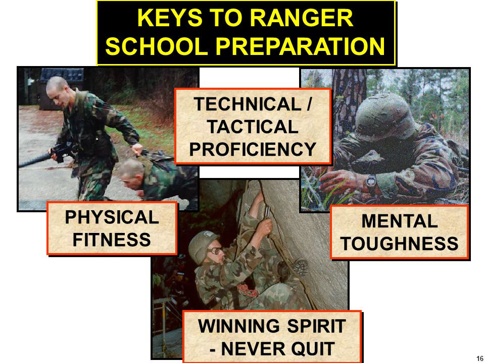 KEYS TO RANGER SCHOOL PREPARATION