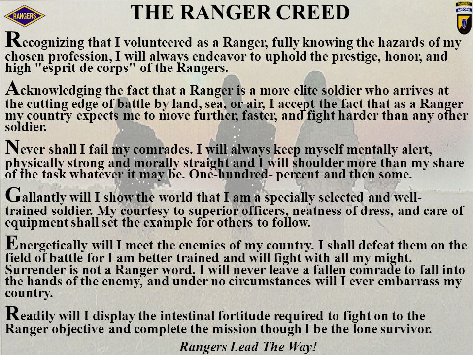 THE RANGER CREED