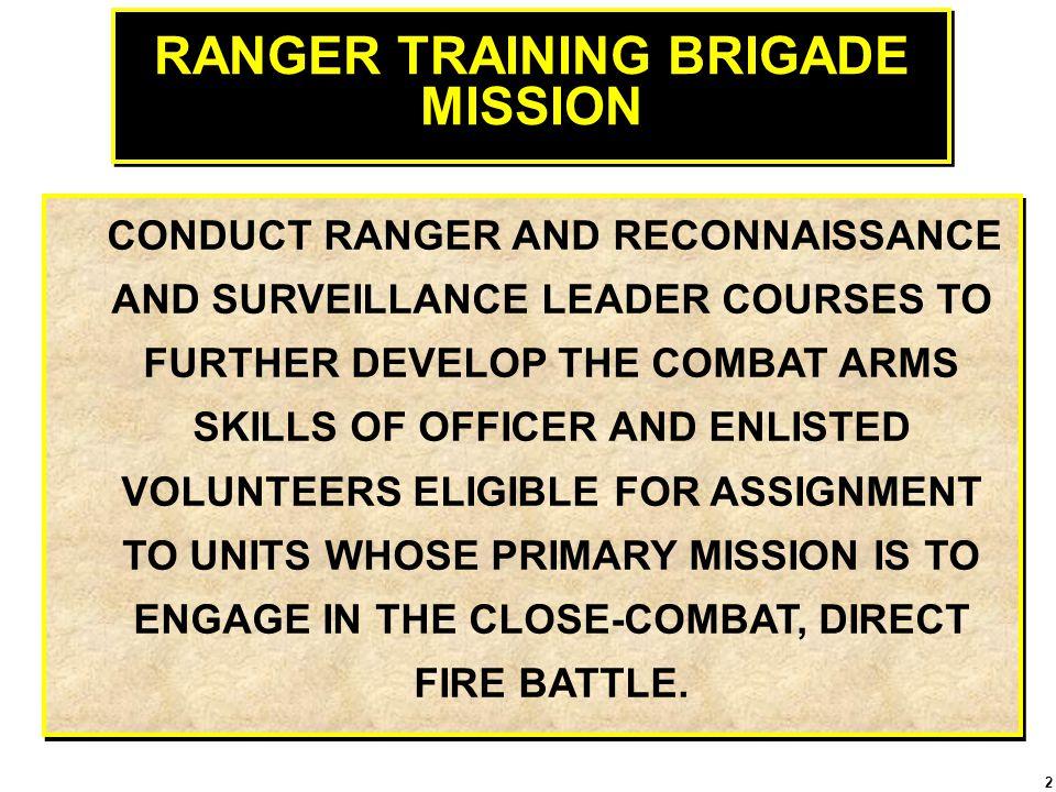 RANGER TRAINING BRIGADE MISSION